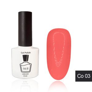 Гель-лак MB Co-03 яркий коралловый Coral Collection, неоновый 8 мл ― My Beauty